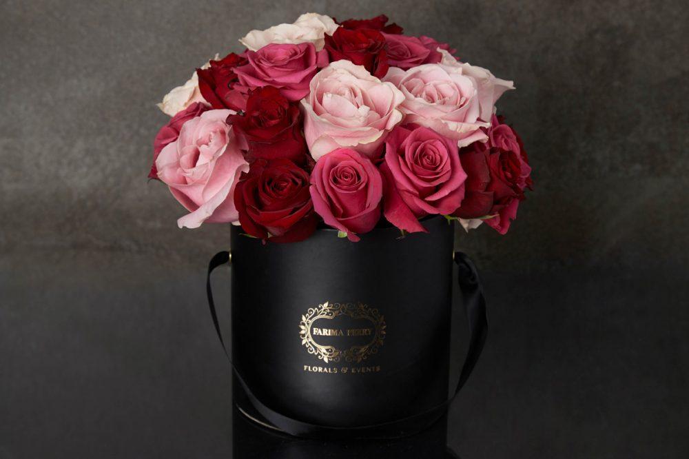 Black Round Flower Box