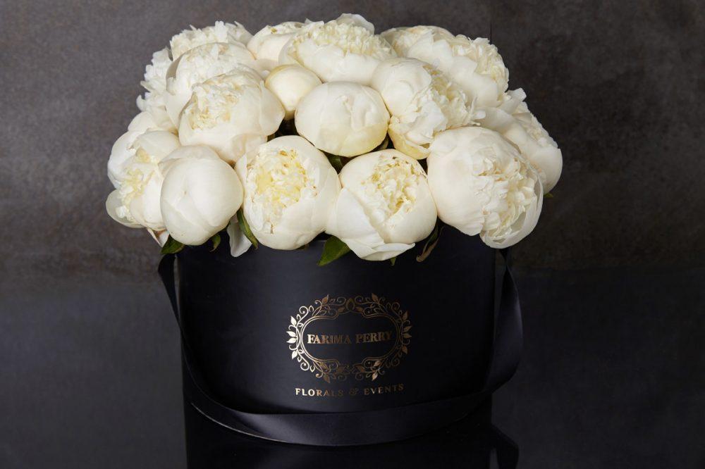 Large Black Round Flower Box