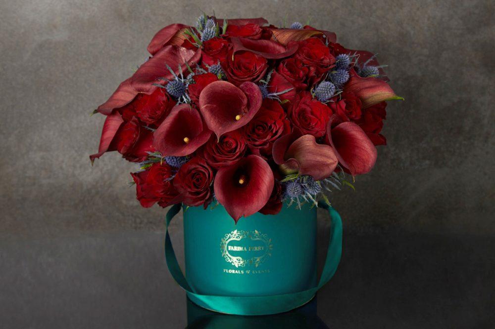 Teal Green Round Flower Box