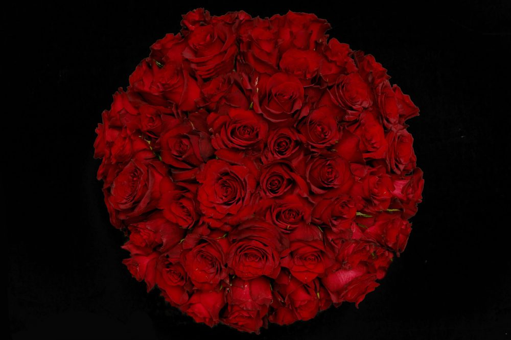 """The 69"" - Red Round Flower Box"